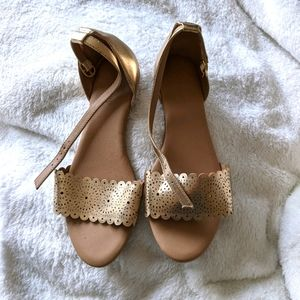 Old Navy Gold Cut-Out Sandals